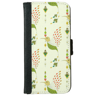 Vintage ethnic tribal aztec bird iPhone 6 wallet case