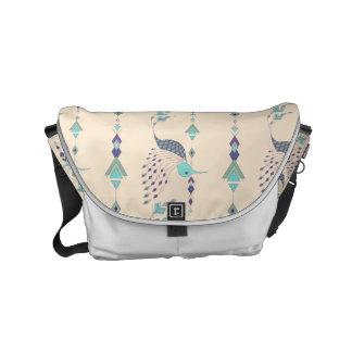 Vintage ethnic tribal aztec bird messenger bag