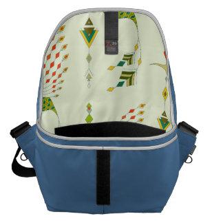 Vintage ethnic tribal aztec bird messenger bags