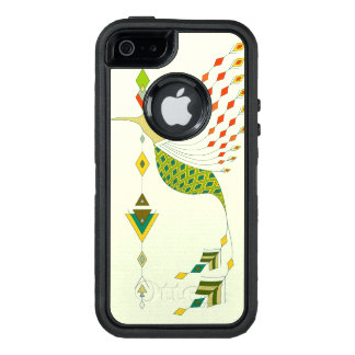 Vintage ethnic tribal aztec bird OtterBox defender iPhone case