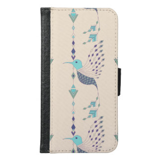 Vintage ethnic tribal aztec bird samsung galaxy s6 wallet case