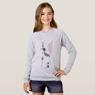 Vintage ethnic tribal aztec bird sweatshirt