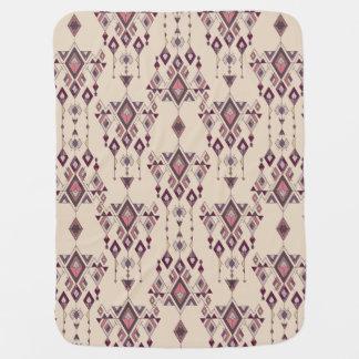 Vintage ethnic tribal aztec ornament baby blanket