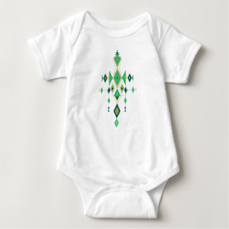 Vintage ethnic tribal aztec ornament baby bodysuit
