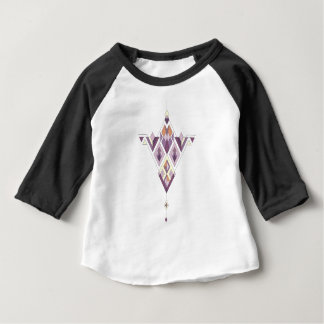 Vintage ethnic tribal aztec ornament baby T-Shirt