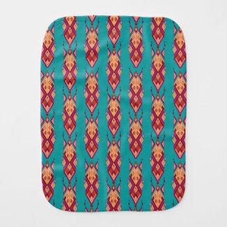 Vintage ethnic tribal aztec ornament burp cloth