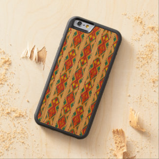 Vintage ethnic tribal aztec ornament carved cherry iPhone 6 bumper case