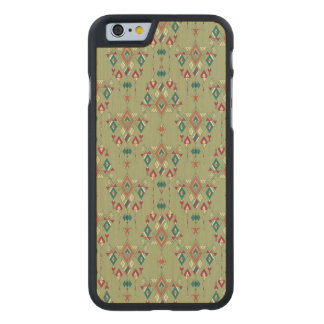 Vintage ethnic tribal aztec ornament carved maple iPhone 6 case
