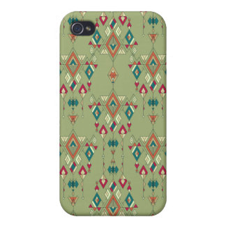 Vintage ethnic tribal aztec ornament case for iPhone 4