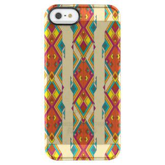 Vintage ethnic tribal aztec ornament clear iPhone SE/5/5s case