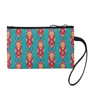 Vintage ethnic tribal aztec ornament coin purse