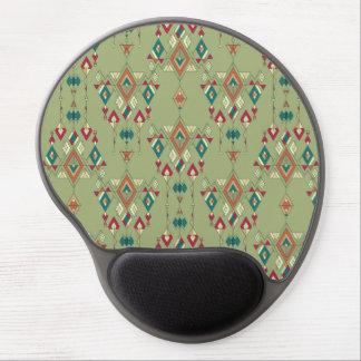 Vintage ethnic tribal aztec ornament gel mouse pad