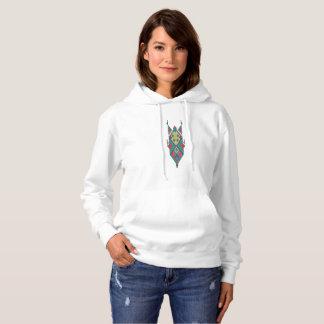 Vintage ethnic tribal aztec ornament hoodie