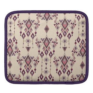 Vintage ethnic tribal aztec ornament iPad sleeve