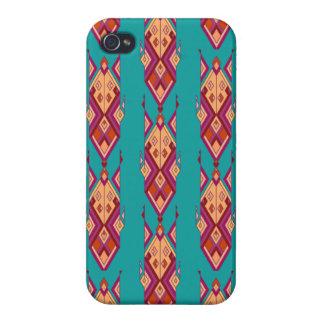Vintage ethnic tribal aztec ornament iPhone 4/4S cases