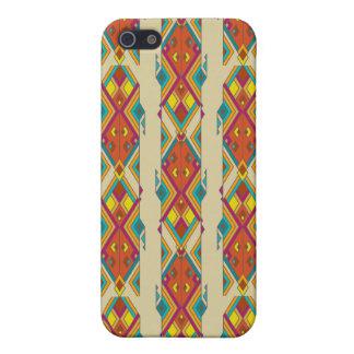 Vintage ethnic tribal aztec ornament iPhone 5/5S cases