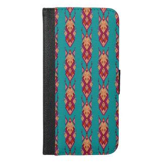 Vintage ethnic tribal aztec ornament iPhone 6/6s plus wallet case