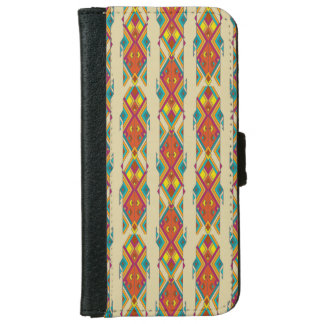 Vintage ethnic tribal aztec ornament iPhone 6 wallet case