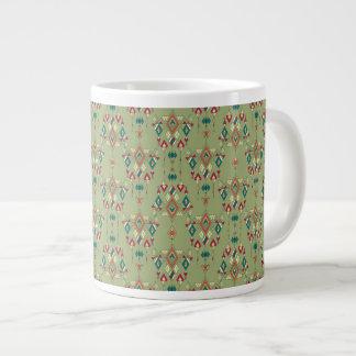 Vintage ethnic tribal aztec ornament large coffee mug