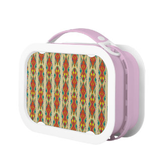 Vintage ethnic tribal aztec ornament lunch box