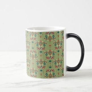 Vintage ethnic tribal aztec ornament magic mug