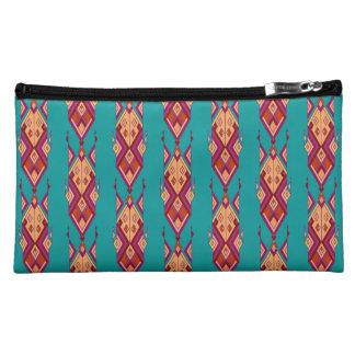 Vintage ethnic tribal aztec ornament makeup bag