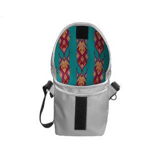 Vintage ethnic tribal aztec ornament messenger bag