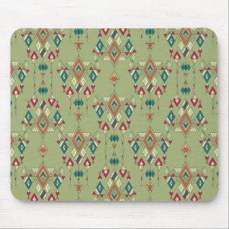 Vintage ethnic tribal aztec ornament mouse pad