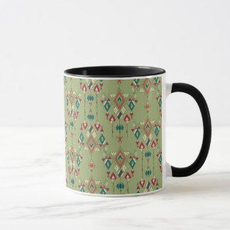 Vintage ethnic tribal aztec ornament mug