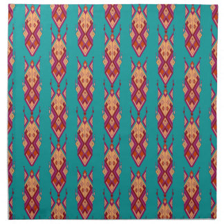 Vintage ethnic tribal aztec ornament napkin