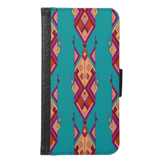 Vintage ethnic tribal aztec ornament samsung galaxy s6 wallet case