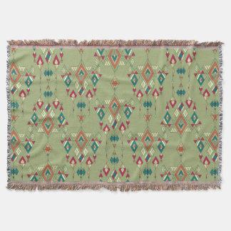 Vintage ethnic tribal aztec ornament throw blanket