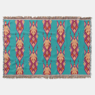 Vintage ethnic tribal aztec ornament throw blanket