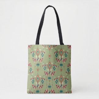 Vintage ethnic tribal aztec ornament tote bag