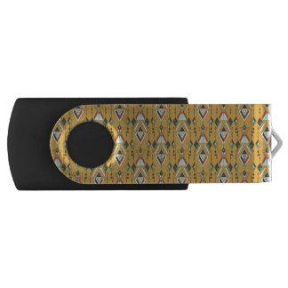 Vintage ethnic tribal aztec ornament USB flash drive