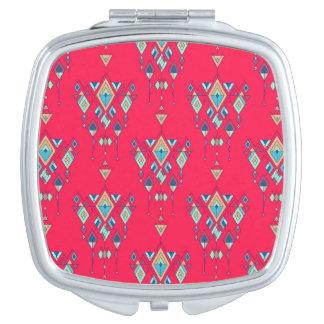 Vintage ethnic tribal aztec ornament vanity mirrors