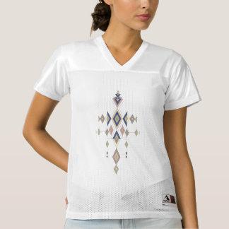 Vintage ethnic tribal aztec ornament women's football jersey