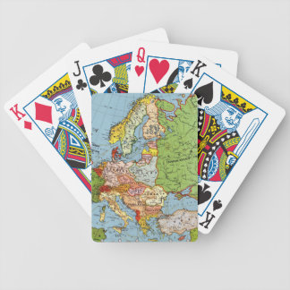 Vintage Europe 20th Century General Map Poker Deck