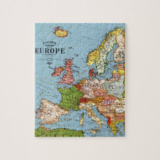 Vintage Europe 20th Century General Map Puzzle