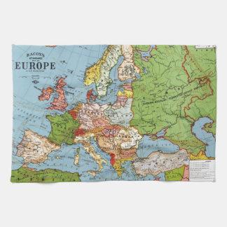 Vintage Europe 20th Century General Map Tea Towels