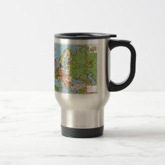 Vintage Europe 20th Century General Map Travel Mug