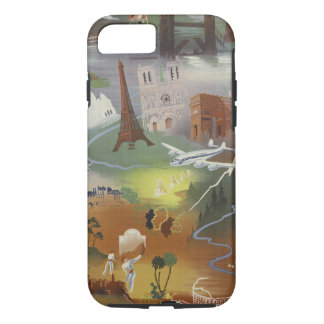 Vintage Europe Air Travel Ad iPhone 7 Case