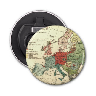 Vintage European Map Continent Bottle Opener
