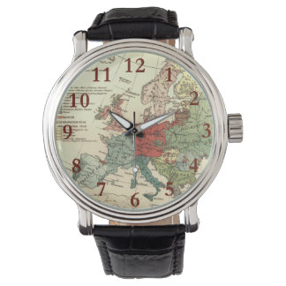 Vintage European Map Continent Watch