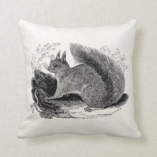 Vintage European Squirrel 1800s Squirrels Cushion