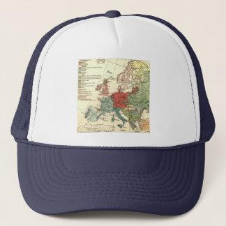 Vintage European Travel Map Trucker Hat