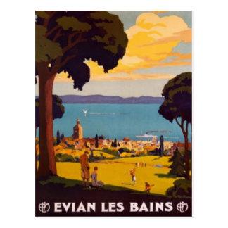 Vintage Évian-les-Bains, Rhône-Alpes, France - Post Card