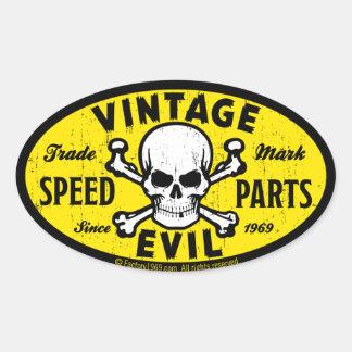 Vintage Evil 007A Oval Sticker