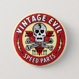 Vintage Evil nose art 001 6 Cm Round Badge