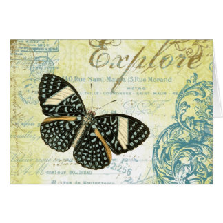 Vintage Explore Butterly...note card